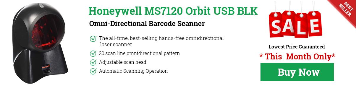Honeywell MS7120 Orbit USB BLK Omni-Directional Barcode Scanner